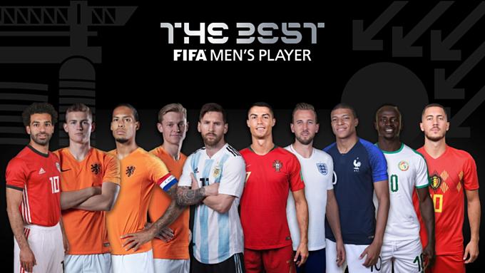 10 nam cầu thủ tranh giải The Best 2019. Ảnh: FIFA.