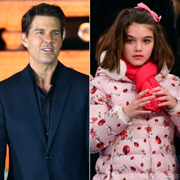 Tom Cruise và con gái ruột duy nhất - bé Suri Cruise.