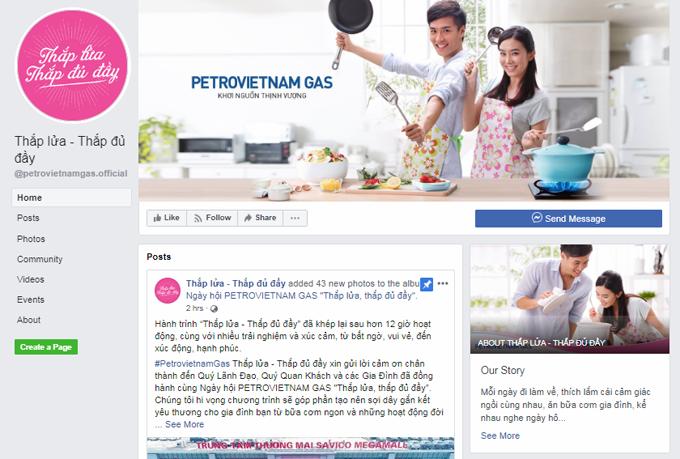 Fanpage Thắp lửa - Thắp đủ đầy của PetroVietnam Gas.