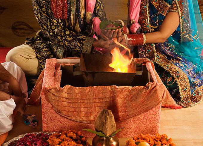 Một đám cưới theo phong tục truyền thống của Ấn Độ. Ảnh minh họa: photos India.
