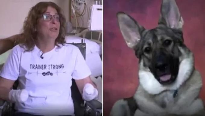 Bà Marie không có ý định từ bỏ con chó cưng đã liếm tay khiến bà phải cắt cụt tứ chi vì vẫn rất yêu nó. Ảnh: Fox6.