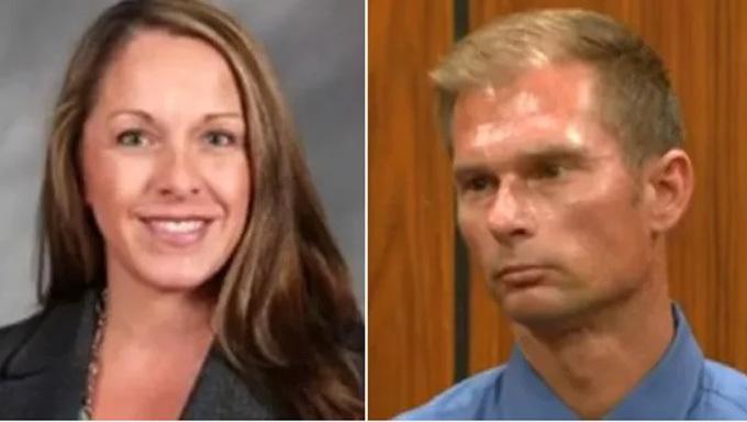 Therese và chồng BrianKozlowski tại tòa hôm 1/8. Ảnh: