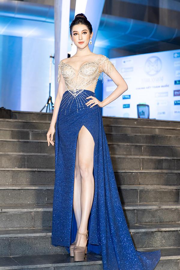 Á hậu Huyền My diện váy của nhà thiết kế Hà Duy.