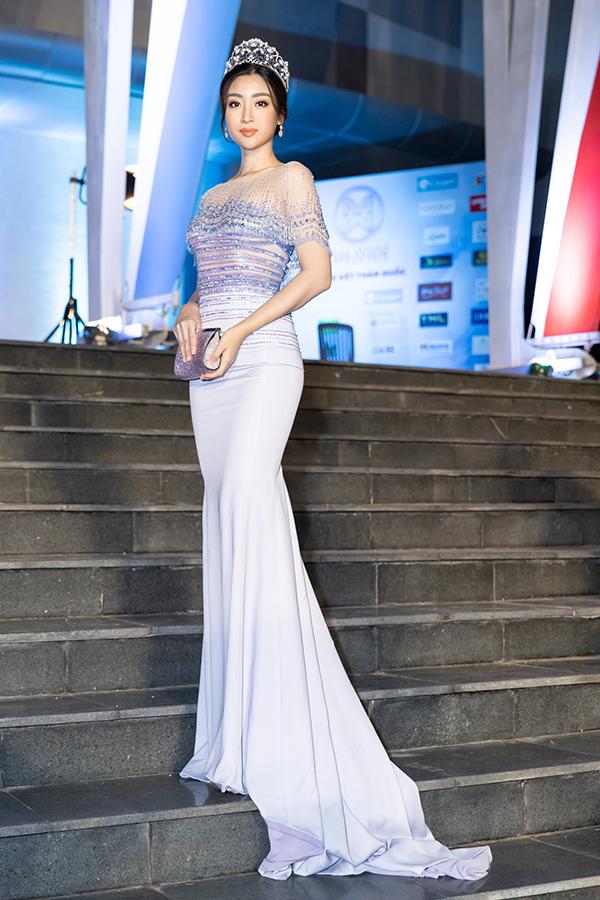 Hoa hậu Việt Nam 2016 Đỗ Mỹ Linh. Cùng với Tiểu Vy, cô là một trong hai đại sứ hình ảnh của cuộc thi.