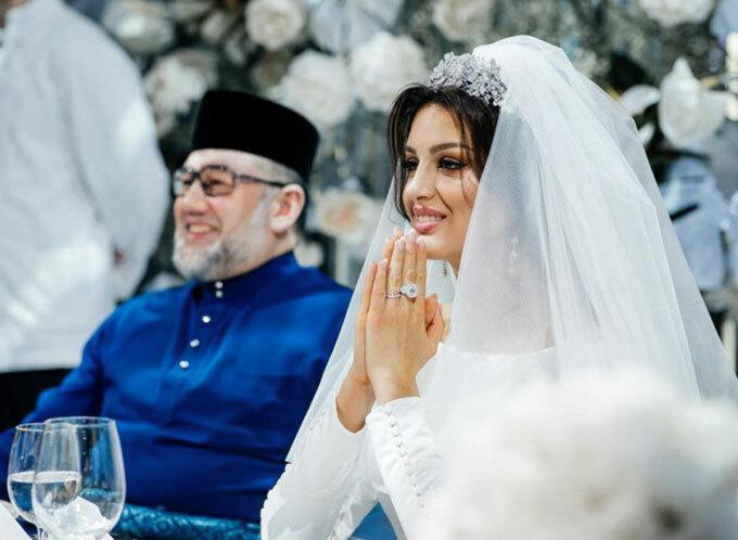 Hoa khôi Moskva kết hôn với Quốc vương Malaysia Muhammad V trong một hôn lễ xa hoa ở ngoại ô Moskva vào tháng 11/2018. Ảnh: Instagram.