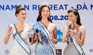 Hoa hậu Lương Thuỳ Linh và hai Á hậu tự giới thiệu bằng tiếng Anh