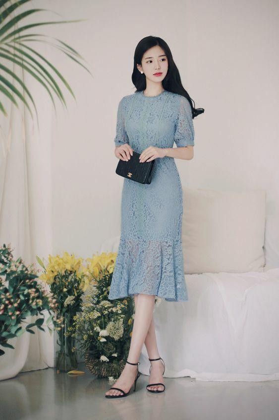 Đầm dạo phố cho nàng mê sắc xanh - 5