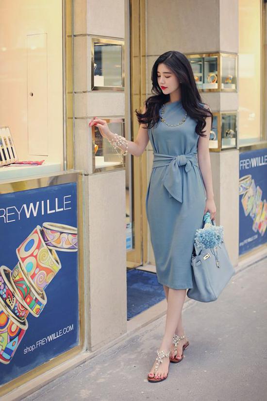 Đầm dạo phố cho nàng mê sắc xanh - 8