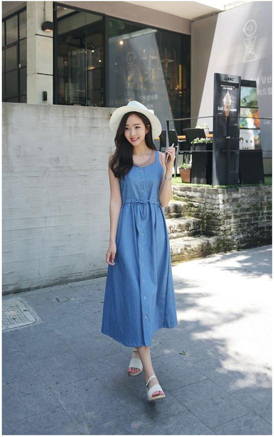 Đầm dạo phố cho nàng mê sắc xanh