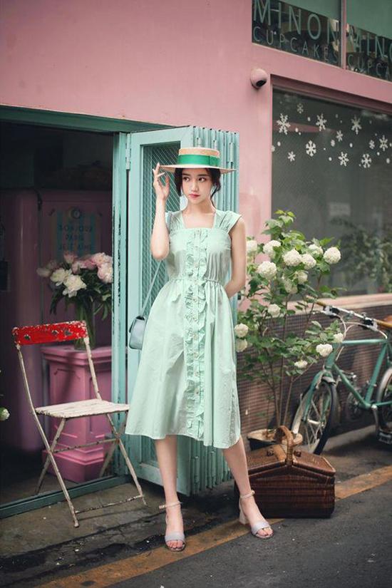 Đầm dạo phố cho nàng mê sắc xanh - 4