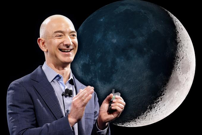 Tỷ phú Jeff Bezos tham vọng chinh phục vũ trụ. Ảnh: Repairstore.