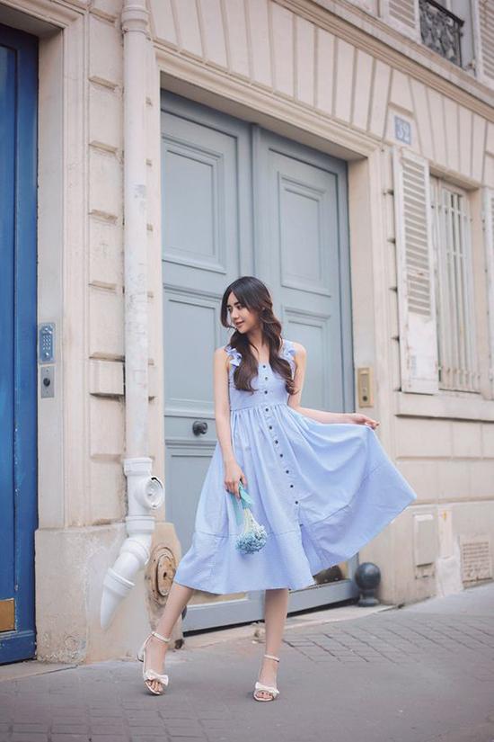 Đầm dạo phố cho nàng mê sắc xanh - 11