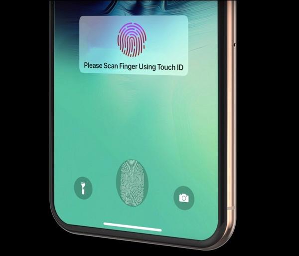 iPhone 2021 sử dụng cảm biến vân tay trong màn hình