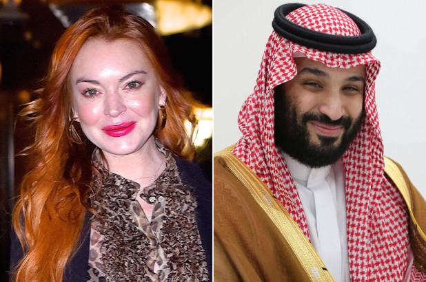 Lindsay Lohan và Thái tử Mohammad bin Salman.
