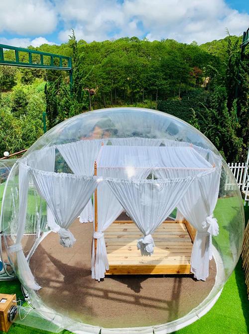 Hostel trong suốt như bong bóng khổng lồ ở Đà Lạt - 1