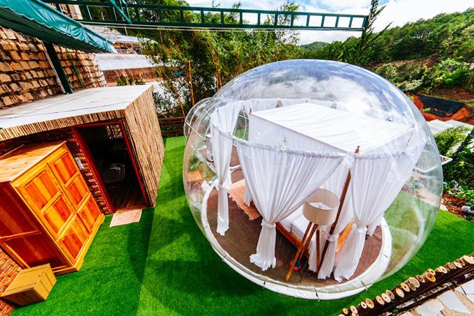 Hostel trong suốt như bong bóng khổng lồ ở Đà Lạt - 2