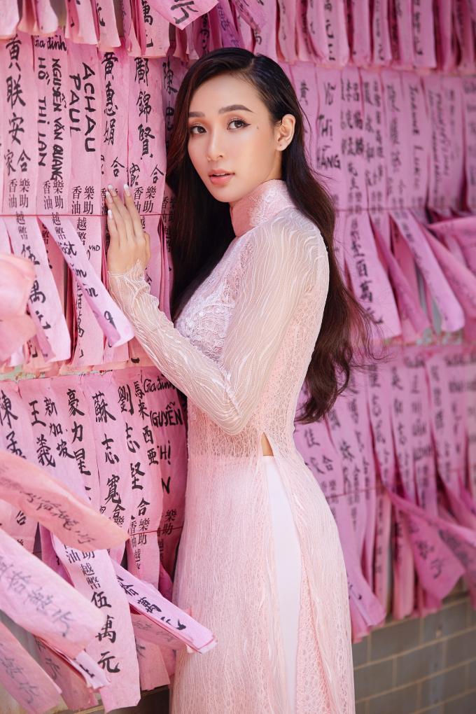 Trước khi quyết định lấn sân ca hát, Ngô Mỹ Hải từng thi Hoa hậu Siêu quốc gia Việt Nam.