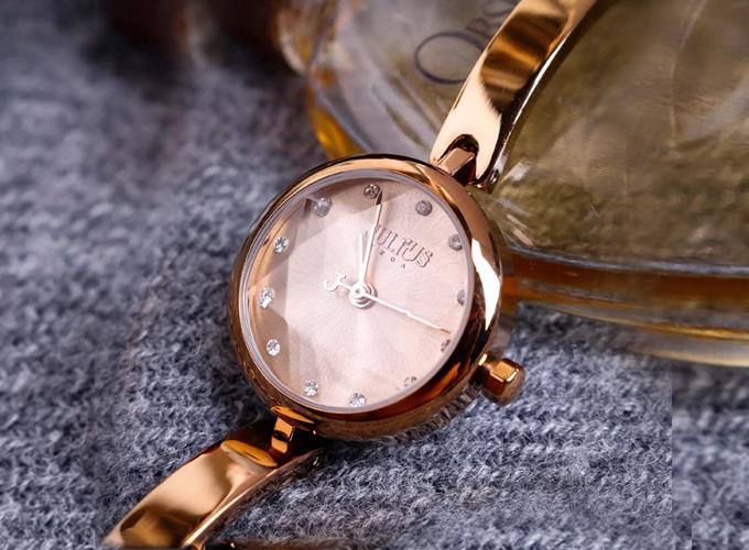 Đồng hồ nữ dây thép chính hãng Hàn Quốc Julius JA-1126E