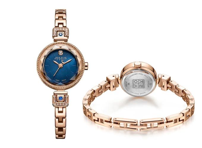 Đồng hồ nữ julius Hàn Quốc JA-981D JU1236 (đồng xanh)