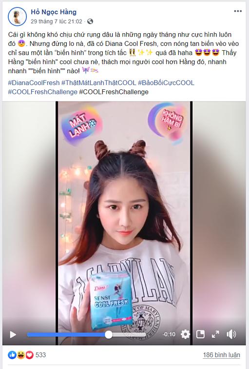 Facebooker Hồ Ngọc Hằng thực hiện pha biến hình giống Trang Hý.