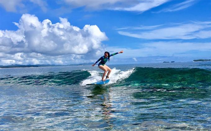 Siargao được biết đến như là một địa điểm lướt sóng lý tưởng.