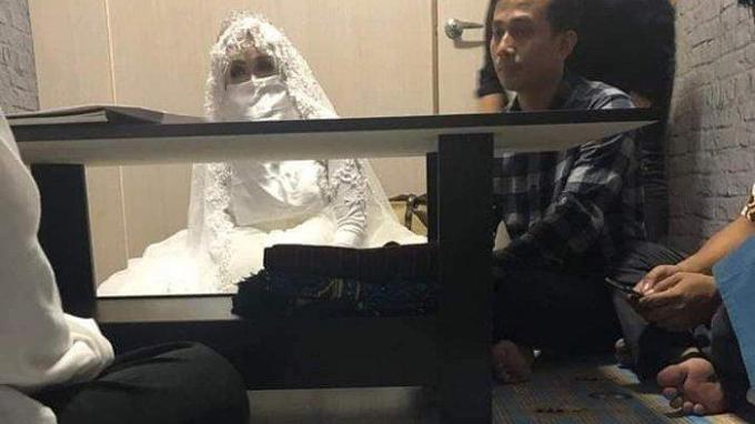 Đám cưới của Yusuf và bạn gái Cece tại Đài Loan. Ảnh: FB.