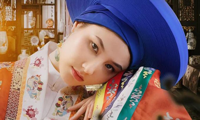 Diễm My ưu tư trong tạo hình cổ trang thời Nguyễn.