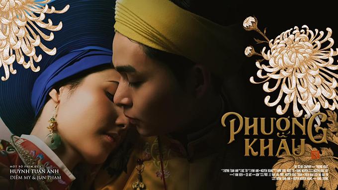 Khoảnh khắc tình tứ của hoàng hậu Diễm My và hoàng thượng Jun Phạm được cắt ra từ phim.
