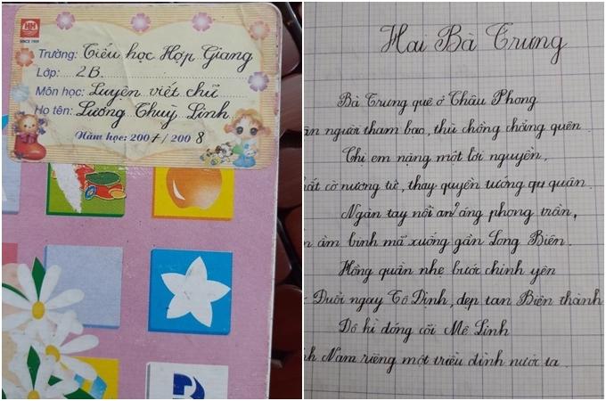 Hoa hậu Lương Thùy Linh được fan khen vì viết chữ đẹp