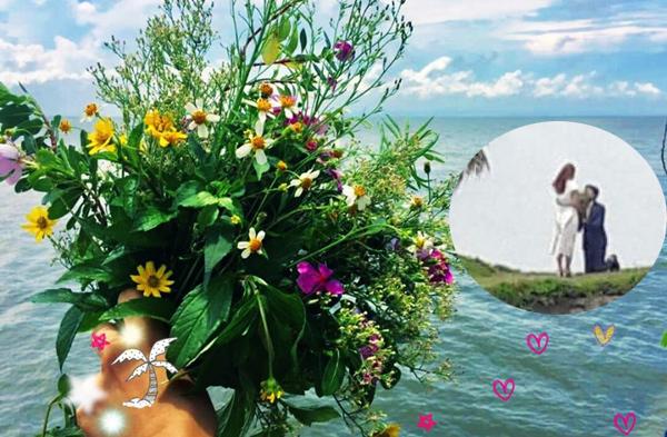 Hình ảnh bó hoa được cho là của Vũ dùng để cầu hôn Thư ở tập cuối.
