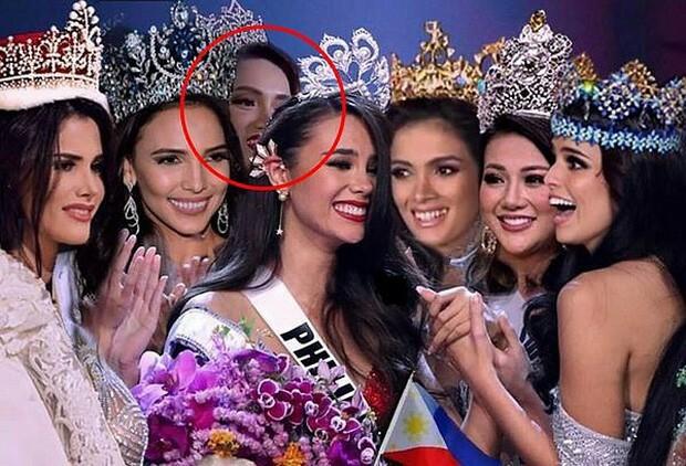 Tấm ảnh ghép thể hiện sự thiếu tôn trọng Hoa hậu Hương Giang.