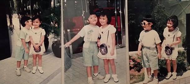 Những bức ảnh chụp chung từ thời thơ ấu được cô dâu Chu Thiên Tuyết chia sẻ.