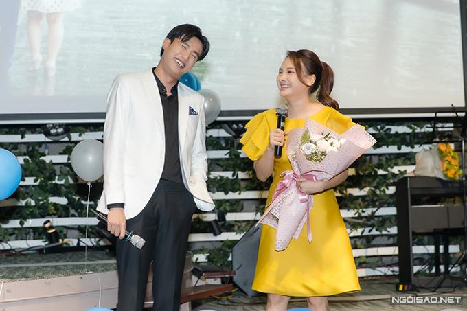 Đối với Quốc Trường, Bảo Thanh là người bạn diễn rất dễ thương, giỏi nghề mà anh có thể học hỏi được nhiều kinh nghiệm.