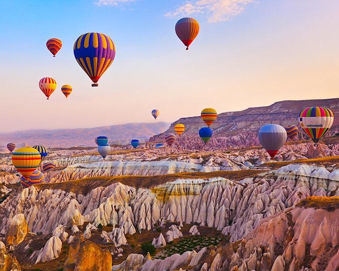 Cappadocia lúc hoàng hôn với vẻ đẹp say lòng người.