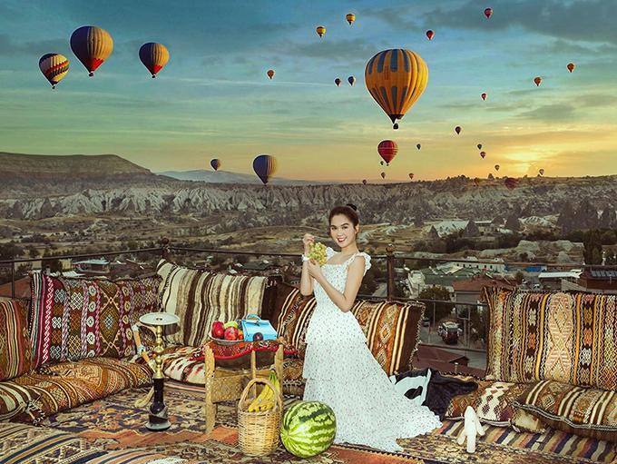 Ngọc Trinh trong chuyến du lịch Thổ Nhĩ Kỳ năm ngoái.