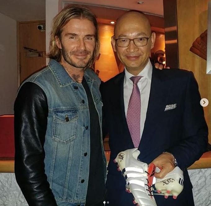 Đầu bếp người Hong Kong và David Beckham. Ảnh: Instagram.