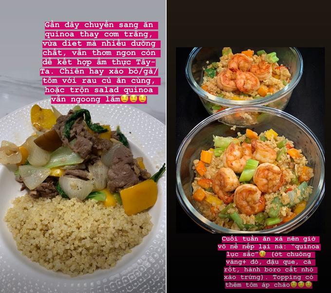 Chán ăn khoai lang giữ dáng, Tóc Tiên chuyển sang 'nghiện' hạt quinoa