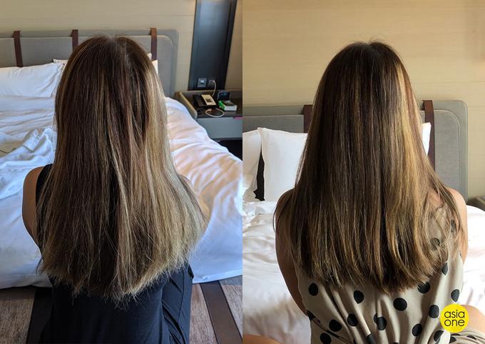 Sau khi thử cách gội ngược, Melissa thử quay lại với cách gội cũ để so sánh kết quả và rút ra kết luận thoa dầu xả trước giúp ích cho mái tóc.