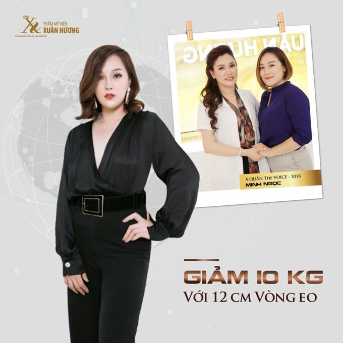 Á quân The Voice Minh Ngọc đã giảm thành công 12cm vòng eo với công nghệ Max Slim Lipo.