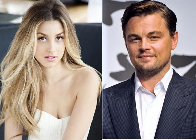 Whitney Port và Leonardo DiCaprio.