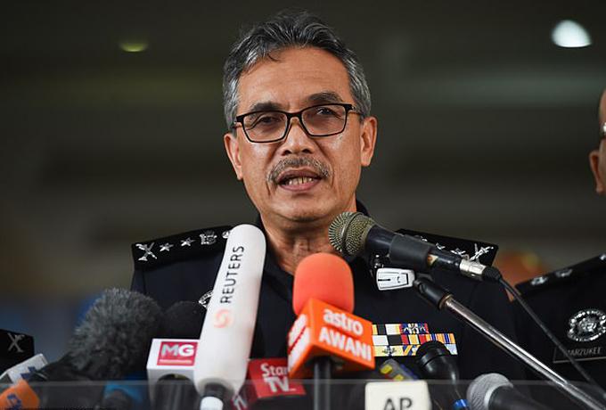 Ông Yusop, phó thanh tra cảnh sát, chia sẻ thông tin về vụ bé gái người Anh chết trong rừng Malaysia hôm 15/8.Ảnh: Gustavo Valiente.