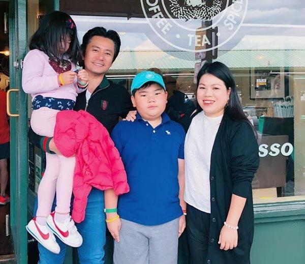 Gia đình Trương Minh Cường vừa đi chơi cùng nhau vào giữa tháng 7