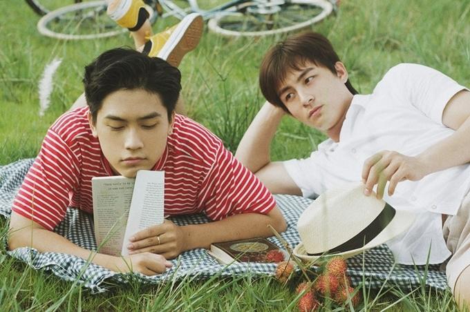Võ Điền Gia Huy (trái) và Lãnh Thanh chụp bộ ảnh Theo anh về nhà như một vòng thử vai cuối cùng.