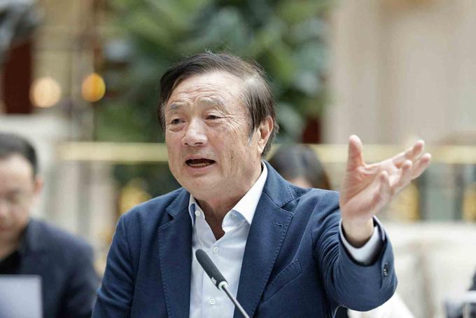 Ông Ren Zhengfei, nhà sáng lập Huawei. Ảnh: Reuters.