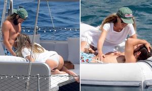 Heidi Klum và chồng trẻ âu yếm trong tuần trăng mật
