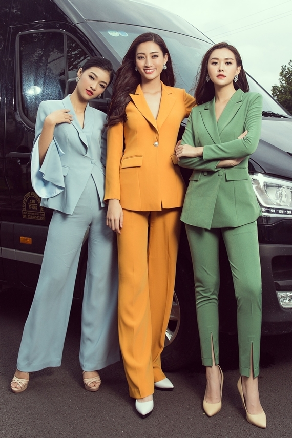 Phong cách của Hoa hậu Lương Thùy Linh và hai Á hậu sau đăng quang - 3
