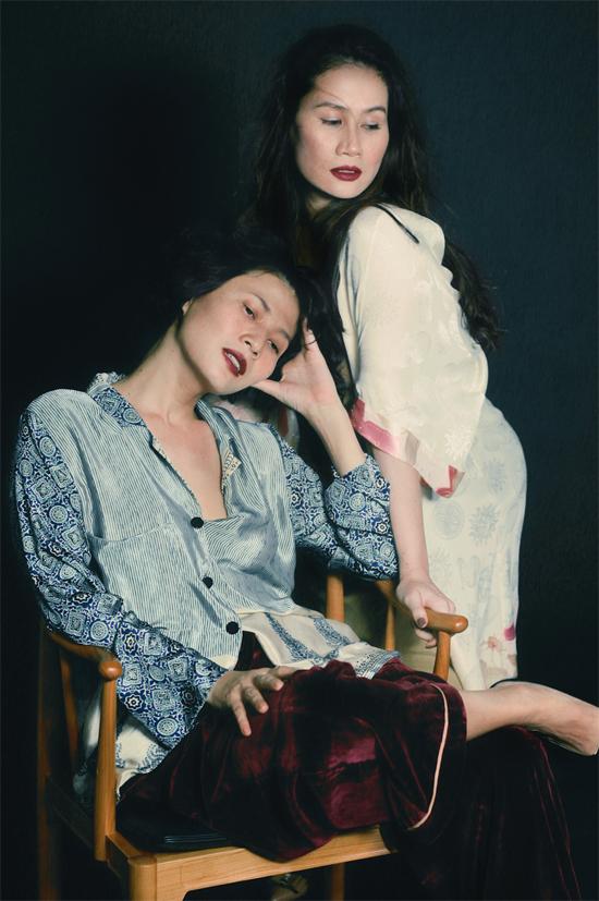 Nhà thiết kế Li Lam và diễn viên Thân Thuý Hà.