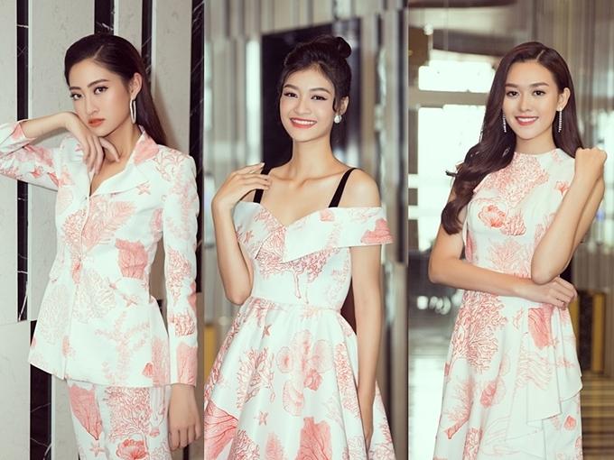 Phong cách của Hoa hậu Lương Thùy Linh và hai Á hậu sau đăng quang