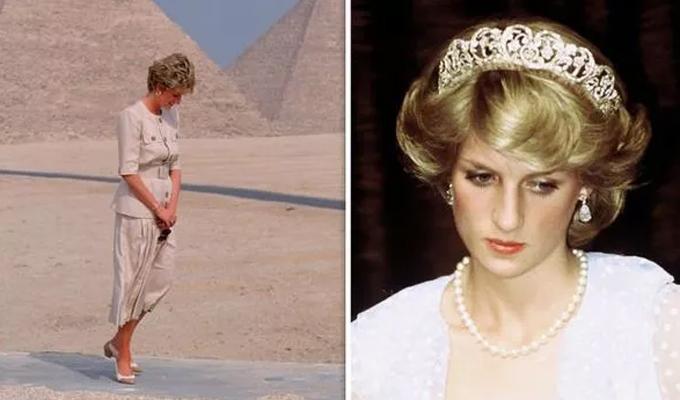Công nương Diana buồn bã trong chuyến đi tới Ai Cập năm 1992. Ảnh: UK Press.