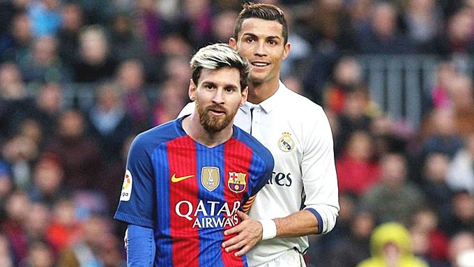 Ronaldo và Messi khi tranh tài ở Tây Ban Nha.